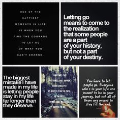 Quotes... The art of letting go