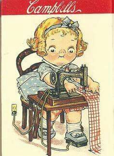 images about Illustraties Vintage Pictures, Vintage Images, Vintage Cards, Vintage Postcards, Retro, Sewing Cards, Antique Sewing Machines, Vintage Paper Dolls, Sewing Rooms
