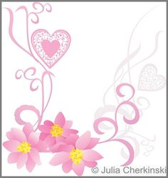 pink flowers on whote background vector image     http://www.tpt-fonts4teachers.blogspot.com/2013/01/san-valentines-day-free-clip-arts.html