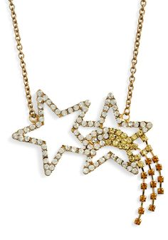 $6.99 Swing on a Star Necklace - Gold, Party, Girls Night Out, Statement, Cocktail, Holiday Party, Tis the Season Sale