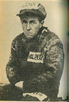 Solzhenitsyn's mugshot upon release from the Gulag, 1953.