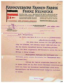 Hannoversche Fahnenfabrik – Wikipedia