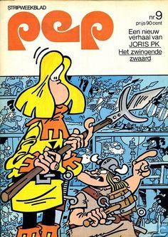 Pep 9 Comic Book Heroes, Comic Books, My Childhood, Van, Cover, Illustration, Dutch, Magazine, Dutch Language