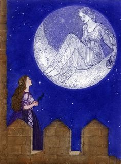 The Moon Listened by Debra McFarlane - The Pink Fairy Book by Andrew Lang