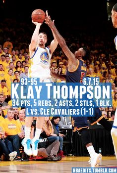 Klay Thompson - 6.7.15 - L vs. Cleveland Cavaliers - http://nbafunnymeme.com/nba-best-players-of-the-day/klay-thompson-6-7-15-l-vs-cleveland-cavaliers