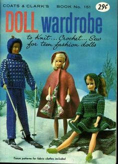 vintage doll wardrobe pattern book