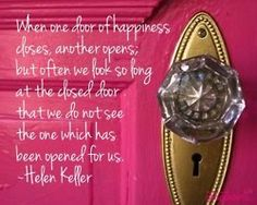 True true true.. But when you have a pink door with a sparkly doorknob one must always be happy:)