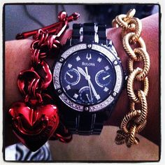 #Red. #Gold. And a bold, black #Bulova.