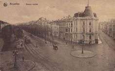 Avenue Louise a Century Ago It feels that long since I was there! Archi Design, Antwerp, Vintage Postcards, Paris Skyline, Taj Mahal, Brussels, Photographs, Photos, City