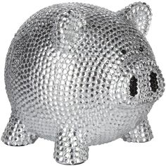 Trumpette Rhinestone Piggy Bank in Silver at London Jewelers!