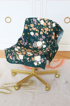 the most perfect dark floral fabric (Nani Iro for Kokka)