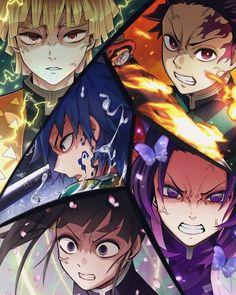 The Demon Slayers [Fanart] Manga Anime, Fanarts Anime, Anime Demon, Anime Art, Demon Slayer, Slayer Anime, Seven Deadly Sins Anime, Estilo Anime, Anime Kunst
