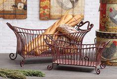 S/2 Red Metal Baskets on OneKingsLane.com