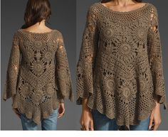 BLUSA, TAP, Vestido o PONCHO - RAZÓN EN RONDA CROCHE | Patrones Crochet, Manualidades y Reciclado