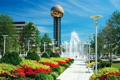 World's Fair Park, Knoxville, TN - Home of the 1982 World's Fair ( was there and that ball thrilled me to death) Affordable Family Vacations, Orange Country, World's Fair, Great View, Love Photography, Continents, Places To Travel, Places Ive Been, Tennessee