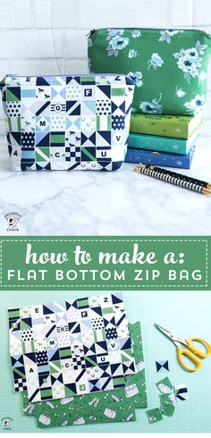Learn how to sew a simple zippered pouch with the free tutorial. #simplesewingprojects #sewingtutorials #sewing #zippouchtutorial #smallsewingprojects #giftstosew