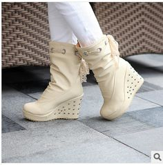 Free Shipping 2014  Fashion boots Sponge cake Women's rivets lace-up high elevator top platform Sneakers  casual shoes #P0161