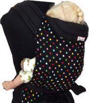 Palm and Pond Mei Tai Sling - Black & Multi Polka Dots Black Mei Tai Baby Carrier, Best Baby Carrier, Best Baby Sling, Baby Wish List, Baby Equipment, Baby Store, Baby Wearing, Polka Dots, Pond