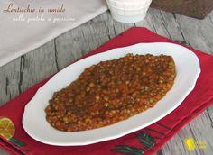 lenticchie in umido nella pentola a pressione ricetta veloce il chicco di mais Italian Cooking, Chana Masala, Meatloaf, Instant Pot, Good Food, Pasta, Beef, Dishes, Ethnic Recipes