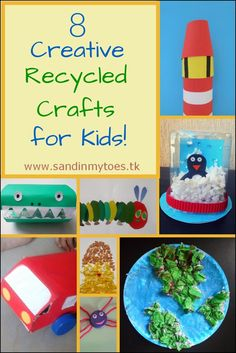 Eight creative crafts kids can make with recycled materials.