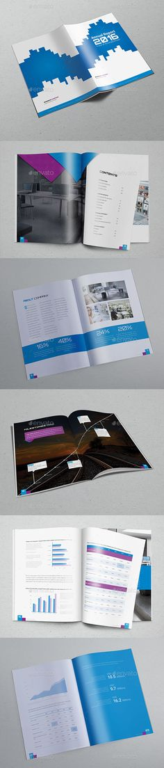 Annual Report Double Ink A4 Annual Business Report Templates - business report templates
