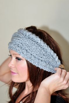 Cabled Knitted Headband
