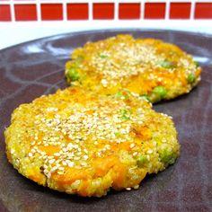 Panquecas salgadas de quinoa