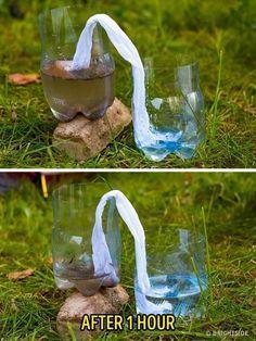 11 Wilderness Survival Tips - Filter dirty water usinga t-shirt.