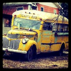I rode on a school bus similar to this...of course it was in much better condition at the time ;-)