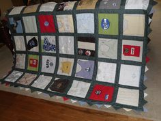 Baby Quilt made from Baby clothes