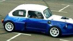 Custom Fiat Abarth with Twin Hayabusa Engines Fiat 126, Fiat Cars, Engine Swap, Fiat Abarth, Motorcycle Engine, Small Cars, Race Cars, Twins, Engineering
