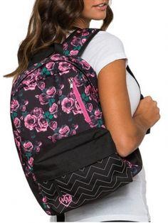 """Bed Of Roses"" Backpack by Metal Mulisha (Black) #inkedshop #bedofroses #bookbag #backpack #school"