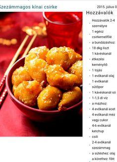 Kínai szezámmagos csirke Pretzel Bites, Ketchup, Bread, Food, Living Alone, Brot, Essen, Baking, Meals