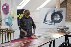 Janina Wierusz-Kowalska, W Pracowni, Art Workshop, fot. Rita Lorenc #art #workshop #abstract #painting