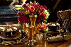 A table set for two is an intimate time to be cherished! via Moll Anderson