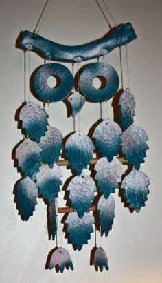 Owl chime in blues--try it with pottery! :-)