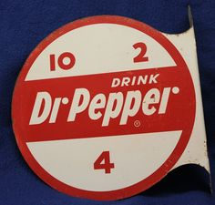 "Pepper Advertising Double Sided Enameled Flange Sign ~ from ""Live Oak Antiques"" shop Vintage Advertising Signs, Vintage Advertisements, Ads, Dr Logo, Soda Brands, Spice Tins, Vintage Metal Signs, Soda Fountain, Old Signs"