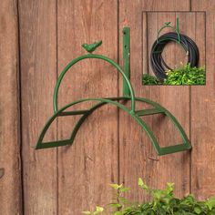 Lend style to your outdoor space with a vintage green hose holder. Keep your hose neatly coiled when not in use and lend fabulous rustic flair to your outside style. Mounts to wall with screws (not included). Vintage Green Hose Holder Dimensions: x x Garden Hose Hanger, Metal Garden Hose, Metal Hose, Vintage Stil, Vintage Green, Hose Holder, Farmhouse Garden, Hose Reel, Primitive Homes