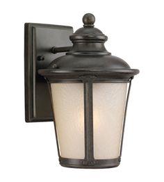 Sea Gull Cape May Outdoor Wall Lantern in Burled Iron 8824091S-780 #lightingnewyork #lny #lighting