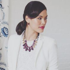 Crack the Color Code with pops of #plum! #chloeandisabel