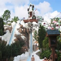 Disneys Blizzard Beach Florida Scary But Thrilling Water Slide Disney Resorts