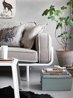 inspired by nature (via IKEA) - my ideal home. Ikea Inspiration, Interior Design Inspiration, Ikea Kassett, Small Space Living, Living Spaces, Decorating Small Spaces, Interior Decorating, Ikea Ps 2012, Ikea Couch