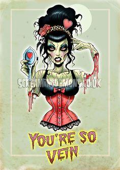 Vintage Zombie Art Print by Marcus Jones 115 x by screamingdemons, $13.00
