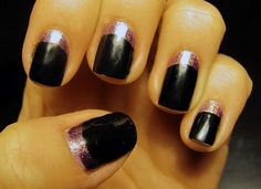 Glitter Moon Manicure