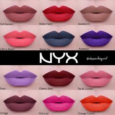 #wishlistwednesday NYX Liquid Suede Liquid Lipsticks swatched by the lovely @depechegurl. Seriously all brands should hire her for lip swatches. I must have the shade Tea & Cookies. I also like Sway, Life's A Beach, Vintage and Cherry Skies. Will you guys be picking theses up when they release? #nyx #nyxcosmetics