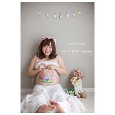 #pregnant #maternitycover #maternity #flower #マタニティフォト #マタニティペイント