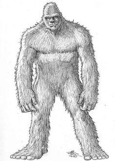 Bigfoot Photos, Anthropology Major, Cave Drawings, Tattoo Drawings, Art In The Park, Bigfoot Sasquatch, Mothman, Mythological Creatures, Stencil Art