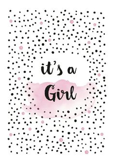 Congratulations Baby Girl, Baby Girl Wishes, Baby Diary, Baby Girl Born, Its A Girl Announcement, Baby Milestone Cards, Baby Gender Reveal Party, Girl Posters, Kids Wallpaper