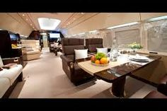 Airbus business jet boasts world's tallest cabin Used Aircraft For Sale, Private Jet Interior, Jumbo Jet, Cabin, Interior Design, Kitchen, Jets, Furniture, Home Decor