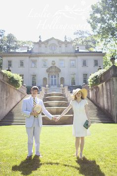 Great Gatsby Theme Engagement Photo: Photos by Leslie Hollingsworth, Styled by Christine Mitchell